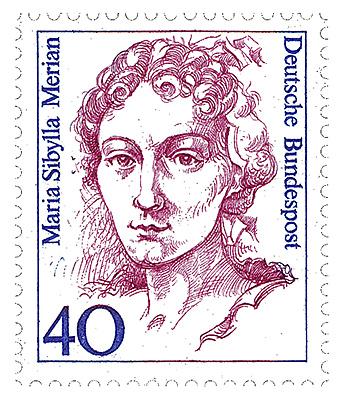 Porträt auf einer Briefmarke