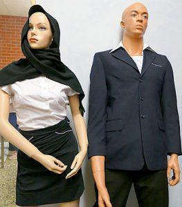 Bekleidung und Büromaterial