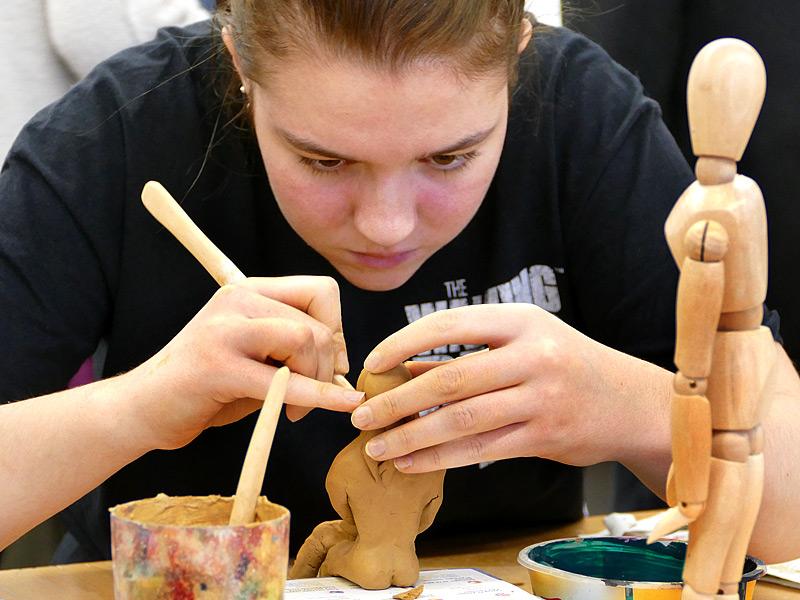 Kunst in der Oberstufe, Foto: Anke Droste
