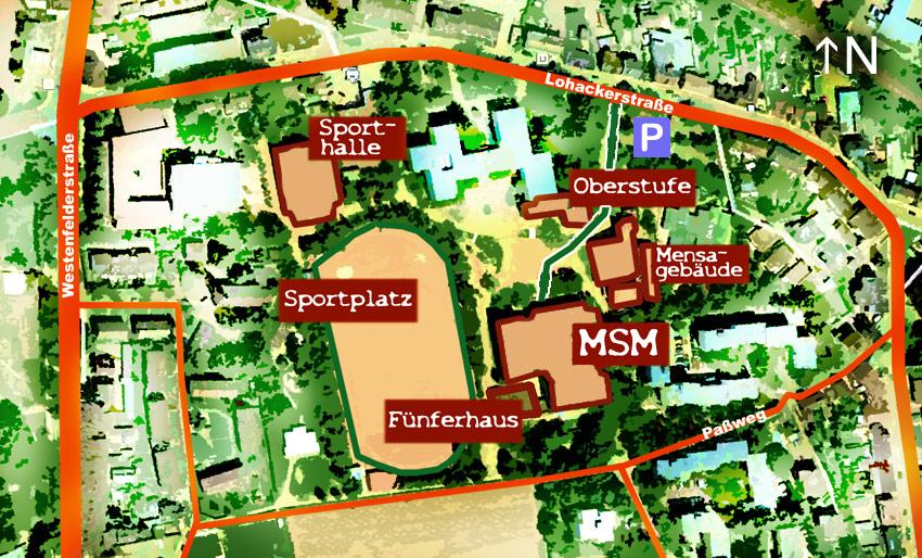 Die Gebäudeteile der MSM